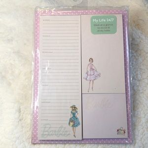 Retro Fashion Barbie 3 Notepads- Magnetic